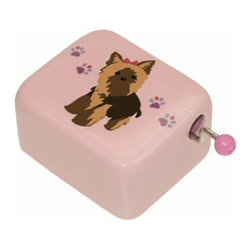 WL - Yorkie Design Doggy Paw Prints Pattern Pink Musical Hand Crank - This gorgeous Yorkie Design Doggy Paw Prints Pattern Pink Musical Hand Crank has the finest details and highest quality you will find anywhere! Yorkie Design Doggy Paw Prints Pattern Pink Musical Hand Crank is truly remarkable.