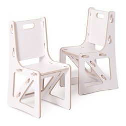 Sprout - Kids Chairs 2 Pack, White, White - Sprout Kids Chair snaps together in seconds all with no tools. The perfect addition to the nursery, toy room, or preschool these contemporary play chairs encourage exploration and creativity in your kids. The seat, back, and brace can be swapped with other chairs, rockers, or cubbies to change the style, color, or even the function of your kid's chairs. Every piece you add to your children's collection enhances their learning environment and builds possibilities to explore and create in the world around them. Use with the Sprout Kids Table for a complete kids chair and table set.