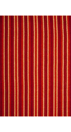 Hook & Loom Rug Company - Monterey Rug, Red/Orange/Yellow, 2'x3' - Very eco-friendly rug, hand-woven with yarns spun from 100% recycled fiber.  Color comes from the original textiles, so no dyes are used in the making of this rug.  Made in India.