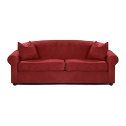 Savvy - Chicago Queen Sleeper Sofa, Fastlane Red, Queen Sleeper, Dreamsleeper Mattress - Chicago Queen Sleeper Sofa in Fastlane Red