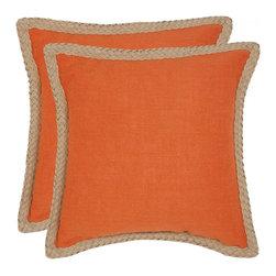 Safavieh - Sweet Sorona Accent Pillow  - Orange - Sweet Sorona Accent Pillow  - Orange