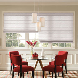 Bali - Bali Casual Classics Roman Shades: Dunes - The versatile and stylish Dunes collection of Bali Casual Classics Roman shades features a horizontally woven fabric emulating the look of linen and woven textile shades.