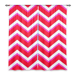 """DiaNoche Designs - Window Curtains Lined by Monika Strigel Layer Red Pink - Purchasing window curtains just got easier and better! Create a designer look to any of your living spaces with our decorative and unique """"Lined Window Curtains."""" Perfect for the living room, dining room or bedroom, these artistic curtains are an easy and inexpensive way to add color and style when decorating your home.  This is a woven poly material that filters outside light and creates a privacy barrier.  Each package includes two easy-to-hang, 3 inch diameter pole-pocket curtain panels.  The width listed is the total measurement of the two panels.  Curtain rod sold separately. Easy care, machine wash cold, tumble dry low, iron low if needed.  Printed in the USA."""