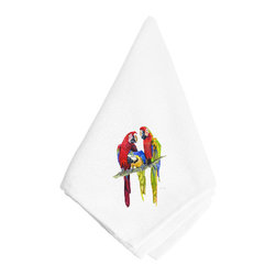 Caroline's Treasures - Tres Parrot Napkin 8601NAP - Tres Parrot Napkin 8601NAP Dinner Napkin - 100% polyester - wash, dry and lay flat.  No ironing needed.  20 inch by 20 inch