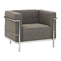 Modway - Modway EEI-281 Charles Grande Armchair in Oatmeal - Urban life has always a quandary for designers. While the torrent of external stimuli surrounds, the designer is vested with the task of introducing calm to the scene. From out of the surging wave of progress, the most talented can fashion a forcefield of tranquility.