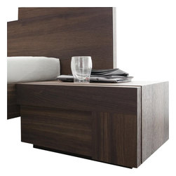 Rossetto - Rossetto Air Right 1 Drawer Night Stand in Warm Oak - Rossetto - Nightstands - T422500100010 - Pure form and color create harmonious living space that respects the intimacy of home life. This nightstand will fit perfectly beside your Air bed.