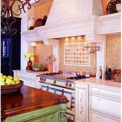 """The St. Tropez Kitchen Range Hood- Francois & Co. - The St Tropez is an elegant and streamlined piece. It is imple yet has a strong appeal. The elegant shelf is traced between two """"wings"""" supported by two discreet corbels."""