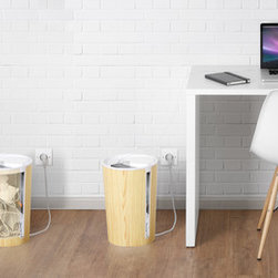 CableBin - CableBin beautifies living and working spaces by hiding your cable mess in a neat, refined bin. Photo courtesy of Bluelounge.