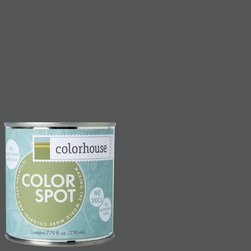 ColorSpot Eggshell Interior Paint Sample, Metal .05,  8-oz - Test color before you paint with the Colorhouse Colorspot 8-oz  paint sample. Made with real paint and in our most popular eggshell finish, Colorhouse paints are 100% acrylic with NO VOCs (volatile organic compounds), NO toxic fumes/HAPs-free, NO reproductive toxins, and NO chemical solvents. Our artist-crafted colors are designed to be easy backdrops for living.