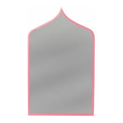 Stray dog designs - Marrakesh Mirror, Pink - A sublime mirror will have you dreaming of wandering the souks of Morocco. Available in a variety of Benjamin Moore colors. Made of papier mache. Handmade in Mexico, iron.