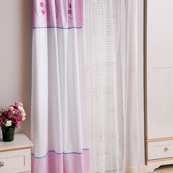 "Cilek - Flora Sheer - This panel curtain is part of the ""Pinky"" collection. Beautifully crafted by Cilek, this white sheer can be a great addition to Girls themed bedroom. Astonishing details and vibrant color."