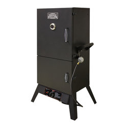 None - Smoke Hollow 38-inch Dual Door Vertical LP Gas Smoker - This Smoke Hollow 38-inch Dual Door Vertical LP Gas Smoker includes four chrome wire cooking grids,sausage hanger,porcelain coated water bowl and steel wood chip pan.