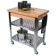 John Boos Cucina Americana Rosato Kitchen Cart with Wood Top | Wayfair