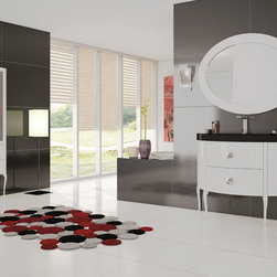 "Macral - Macral Design Products - Traditional Bathroom Vanities And Sink Consoles. Sena Set 47"". White."