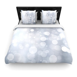 """Kess InHouse - KESS Original """"Glass"""" Gray Bokeh Cotton Duvet Cover (Twin, 68"""" x 88"""") - Rest in comfort among this artistically inclined cotton blend duvet cover. This duvet cover is as light as a feather! You will be sure to be the envy of all of your guests with this aesthetically pleasing duvet. We highly recommend washing this as many times as you like as this material will not fade or lose comfort. Cotton blended, this duvet cover is not only beautiful and artistic but can be used year round with a duvet insert! Add our cotton shams to make your bed complete and looking stylish and artistic!"""