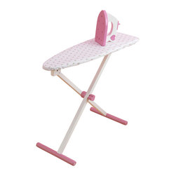 """KidKraft - Kidkraft Kids Home Indoor Pretend Play Tiffany Practice Toy Ironing Board Set - With our Tiffany Bow Ironing Set, kids can feel all grown up and practice ironing their own clothes. Pesky wrinkles won't stand a chance. Dimension: 24""""Lx 10.5""""Wx 21.75""""H"""