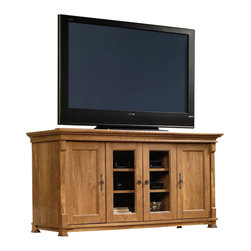 Sauder - Sauder French Mills Entertainment Credenza in American Chestnut - Sauder - TV Stands - 413615 -