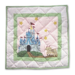 Patch Magic - Fairy Tale Princess Toss Pillow - 16 in. W x 16 in. L. 100% Cotton. Machine washable.. Line or flat dry onlyDecorative applique Quilted Pillow.