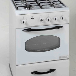 "AVANTI - AVANTI G2404CW WHITE GAS RANGE 24"" SEALED BURNER GLASS DOOR - AVANTI G2404CW WHITE GAS RANGE 24"" SEALED BURNER GLASS DOOR"