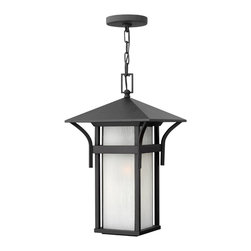 Hinkley Lighting - Harbor Hanger Outdoor - Harbor has an updated nautical feel, with a style inspired by the clean, strong lines of a welcoming lighthouse. The cast aluminum and brass construction is accented by bold stripes against the seedy glass.