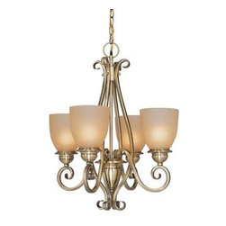 Vaxcel - Tuscan Four Light Up Lighting Chandelier - Antique Brass - Bulb Base: Medium (E26). Bulb Wattage: 100. Bulb Count: 4. Bulbs Not Included