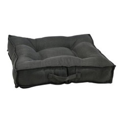 Bowsers Hemp Piazza Dog Bed - The open design of the Bowsers Hemp Piazza Dog Bed is designed to let your pup feel super comfy no matter how he lays. It has a fiber-topped foam center cushion surrounded by plush overstuffed outer bolsters, and is upholstered with environmentally friendly hemp fabric in your choice of colors. Washing Instructions Unzip cover and remove inner cushion and bolsters. Re-zip and wash on cool setting, gentle cycle. Tumble dry on cool setting. About BowsersSince 1998, Bowsers has been a leader in quality pet products. Focusing on high-quality material, superior craftsmanship, and a wide array of over 65 upholstery fabrics, Bowsers' practical designs have created a revolution in the way many people think of pet products. The interior design team led by Eileen Wilkes and Linda Brown ensures that the award-winning designs reflect the latest contemporary trends in home decor.