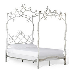 Corsican - Custom Mature Tree Bed in Custom Birch Finish, Queen - Corsican has been in business over 40 years. Their entire focus is making wrought iron furniture. Many of their skilled craftsman are second generation.