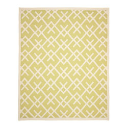 Safavieh Dhurries DHU552A Light Green - Ivory Area Rug - Safavieh Dhurries DHU552A Light Green - Ivory Area Rug