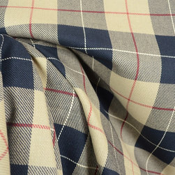Roth - D3049 Hempstead Night Plaid Fabric By The Yard - Hempstead Night by Roth & Tompkins Textiles is a 100% COTTON fabric with a black , natural plaid pattern.  This fabric can be used for draperies , curtains , panels , valances , scarves , swags , pillows , bedding , lightweight upholstery.