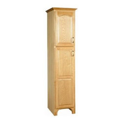 "DHI-Corp - Richland Nutmeg Oak Linen Tower Cabinet with 2-Doors, 20.75"" by 84"" - The Design House530444 Richland Nutmeg Oak Linen Tower Cabinet features a nutmeg oak finish with a water resistant seal. This product has a rustic shabby chic design, meshing modern construction with vintage aesthetics. With solid wood door frames, this 2-door linen cabinet measures 84-inches by 20.75-inches by 22.36-inches and is built to withstand years of repeated use. With a country living motif, this linen cabinet graces your home with its bright finish and clean lines. This product is CARB compliant, which means it adheres to the toughest production standards in the world for formaldehyde emissions (in wood composite paneling). The Design House 530444 Richland Nutmeg Oak Linen Tower Cabinet has a 1-year limited warranty that protects against defects in materials and workmanship. Design House offers products in multiple home decor categories including lighting, ceiling fans, hardware and plumbing products. With years of hands-on experience, Design House understands every aspect of the home decor industry, and devotes itself to providing quality products across the home decor spectrum. Providing value to their customers, Design House uses industry leading merchandising solutions and innovative programs. Design House is committed to providing high quality products for your home improvement projects."