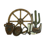 Benzara - Metal Western Wall Decor - Metal Western Wall Decor is an excellent anytime low priced wall decor upgrade option that is high in modern age decor fashion. It is a Country Western metal wall art decor sculpture.