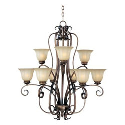 Maxim Lighting - Maxim Lighting 22246WSPD Fremont 9-Light Chandelier In Platinum Dusk - Features