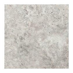 Argento Brushed Travertine Tile -