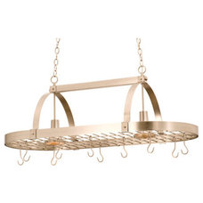 Rustic Ceiling Lighting Kalco 3617 2 Light 10 Hook Pot Rack from the Contemporary Collection