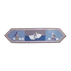 Patch Magic - Beach Critters Table Runner - 16 in. W x 72 in. LHandmade, Hand quilted Table Runner made from 100% Cotton. Machine washable, but for best care hand wash in cold water. Do not machine dry. Do not dry clean.