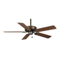 Casablanca - Casablanca Four Seasons III 52 Ceiling Fan in Oil Rubbed Bronze - Casablanca Four Seasons III 52 Model 84U73D in Oil Rubbed Bronze with Reversible Walnut/Antique Oak Finished Blades.