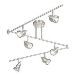 Vaxcel - Vaxcel SP34166SN 6-Light Swing Track Bar Satin Nickel - Vaxcel SP34166SN 6-Light Swing Track Bar Satin Nickel