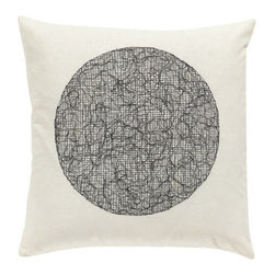 Vivaraise - Maty Throw Pillow, Carbonne, Square - Make a statement without saying a word. The Maty throw pillows brings sophisticated design into your room with it's stylish, subtle embroidery and neutral coloring.