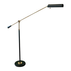 House Of Troy - House Of Troy Counter Balance Transitional Floor Lamp X-716-LFP - Piano floor lamp with 10 foot black cord. Height adjusts from 26 inches to 54 inches.
