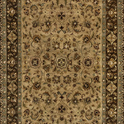 "Loloi Rugs - Loloi Rugs Yorkshire Collection - Beige / Brown, 7'-10"" x 7'-10"" Round - The Yorkshire Collection is a hand tufted area rug made by some of the finest craftsman. Semi-worsted New Zealand wool combines with deep rich color and semi-traditional designs to create unparalleled beauty."