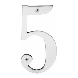 Renovators Supply - House Numbers Chrome House Number | 12767 - House numbers: Crafted of chrome over solid brass- these die cast numbers measure 8 in. high. Beautiful chrome will withstand the test of time. Includes 2 screws for mounting and 2 wall anchors.