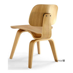 Plywood Dining Chair With Wood Legs Replica - The Plywood Dining Chair with Wood Legs is created from layered, bent hardwood. It is available in your choice of veneer. Leather and pony-style cowhide are also available.