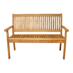 Haste Garden - Riviera Bench 2-Seat - Robinia wood is resistant to decay. All of the wood used in our furniture is sourced from Europe and is 100% FSC certificated. - Made in Poland.