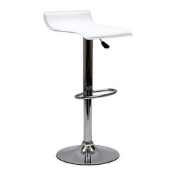 LexMod - Gloria Bar Stool in White - The Gloria Bar Stool is classy but simple, perfect for entertaining guests at your home bar or the kitchen counter. The Gloria Bar Stool features a low key design that brings true style.