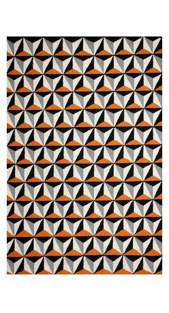 nuLOOM - Contemporary Orange Flat-Weave Area Rug, Trellis - Made from the finest materials in the world and with the uttermost care, our rugs are a great addition to your home.