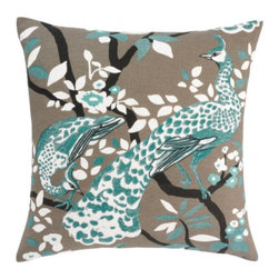 DwellStudio Peacock Pillow, Azure - Classic but still fresh, this would update my neutral sofa nicely.