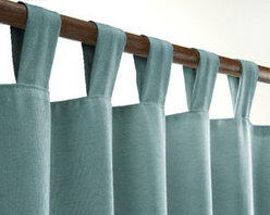 Curtains & Draperies of Indianapolis- Custom Styles at Affordable Prices - This is a picture of our tabbed style curtains. We can create any style and pleat that you want.