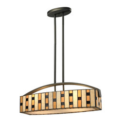 Z-Lite - Z-Lite Raya 4 Light Island/Billiard Light X-SI15-42Z - The Raya family of tiffany lights add color and warmth to your living space with the alternating shades of honey accented with amber. Java bronze hardware complete the 4 Light Island/Billiard Light fixture to achieve a timeless look.