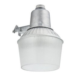 Lithonia Lighting - Lithonia Lighting Outdoor Lighting. 150-Watt Wall or Pole-Mount Outdoor Aluminum - Shop for Lighting & Fans at The Home Depot. The Wall- or Pole-Mount Outdoor Aluminum 150-Watt Metal Halide Area Light from Lithonia Lighting provides security lighting and general purpose lighting in outdoor residential and commercial applications. A dusk-to-dawn photocell automatically turns light on at dusk and off at dawn for convenience and energy savings. Ideal for yards, play areas, service roads, docks and storage lots.
