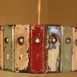 EuroLux Home - Large Pendant Light with Upcycled Consigned Vintage - Product Details